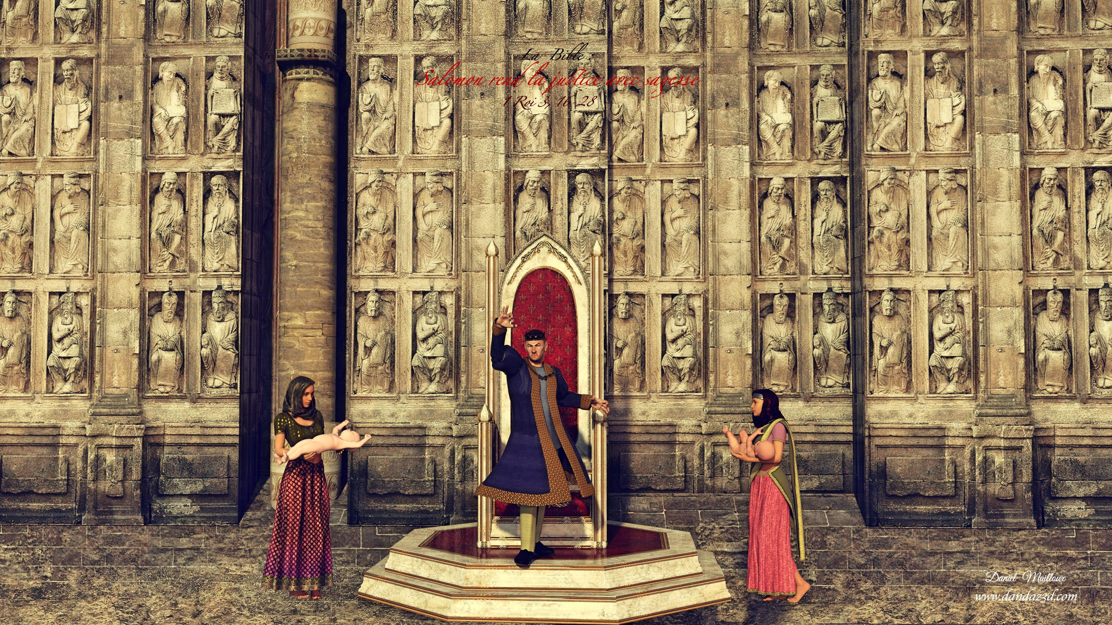 Le Roi Salomon rend la Justice