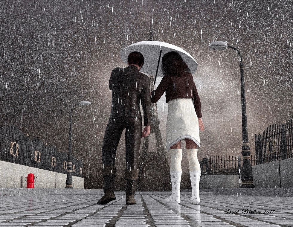 Paris dans la pluie