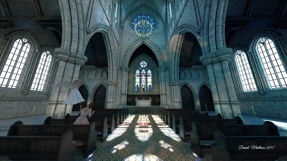 Apparition d'un ange à l'église