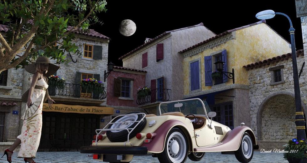 Clair de lune en Provence