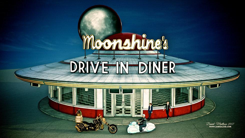 Moonshine's diner bikes