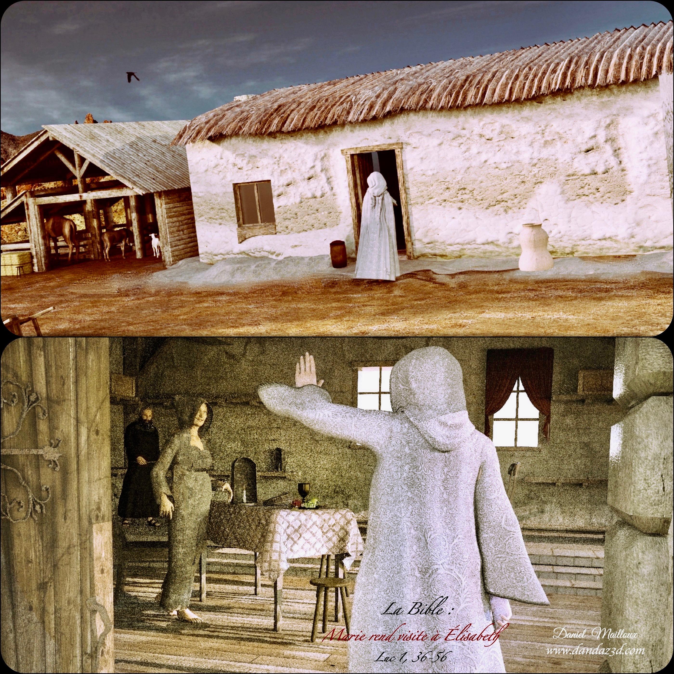 Marie rend visite à Élisabeth