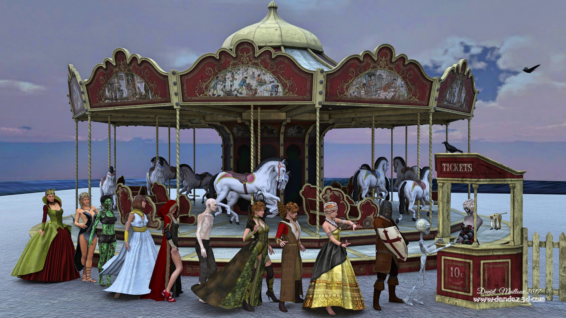 Carousel waitline