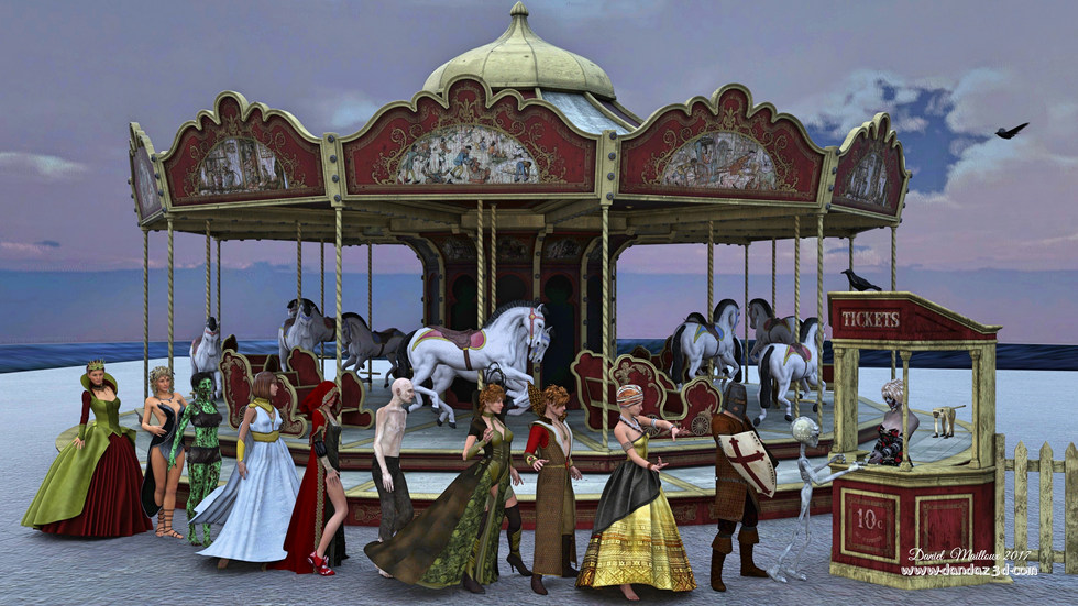 Carousel waitline