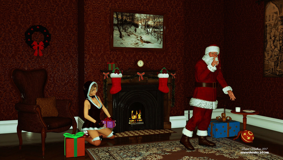 Père Noël et les biscuits
