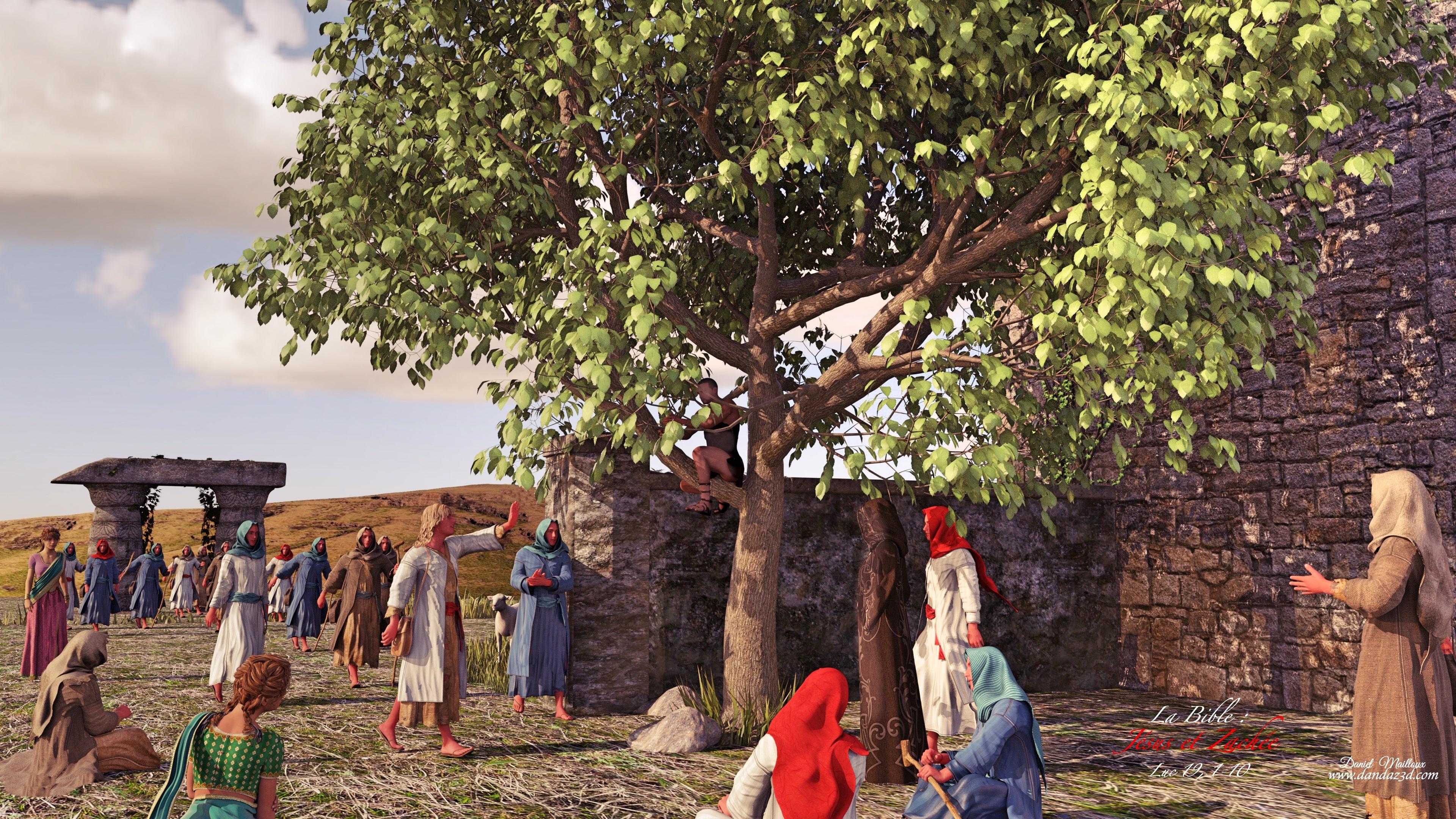 Jésus et Zachée