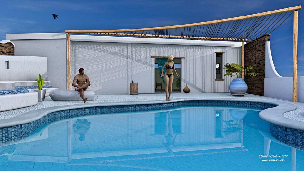 Mykonos Pool Grece