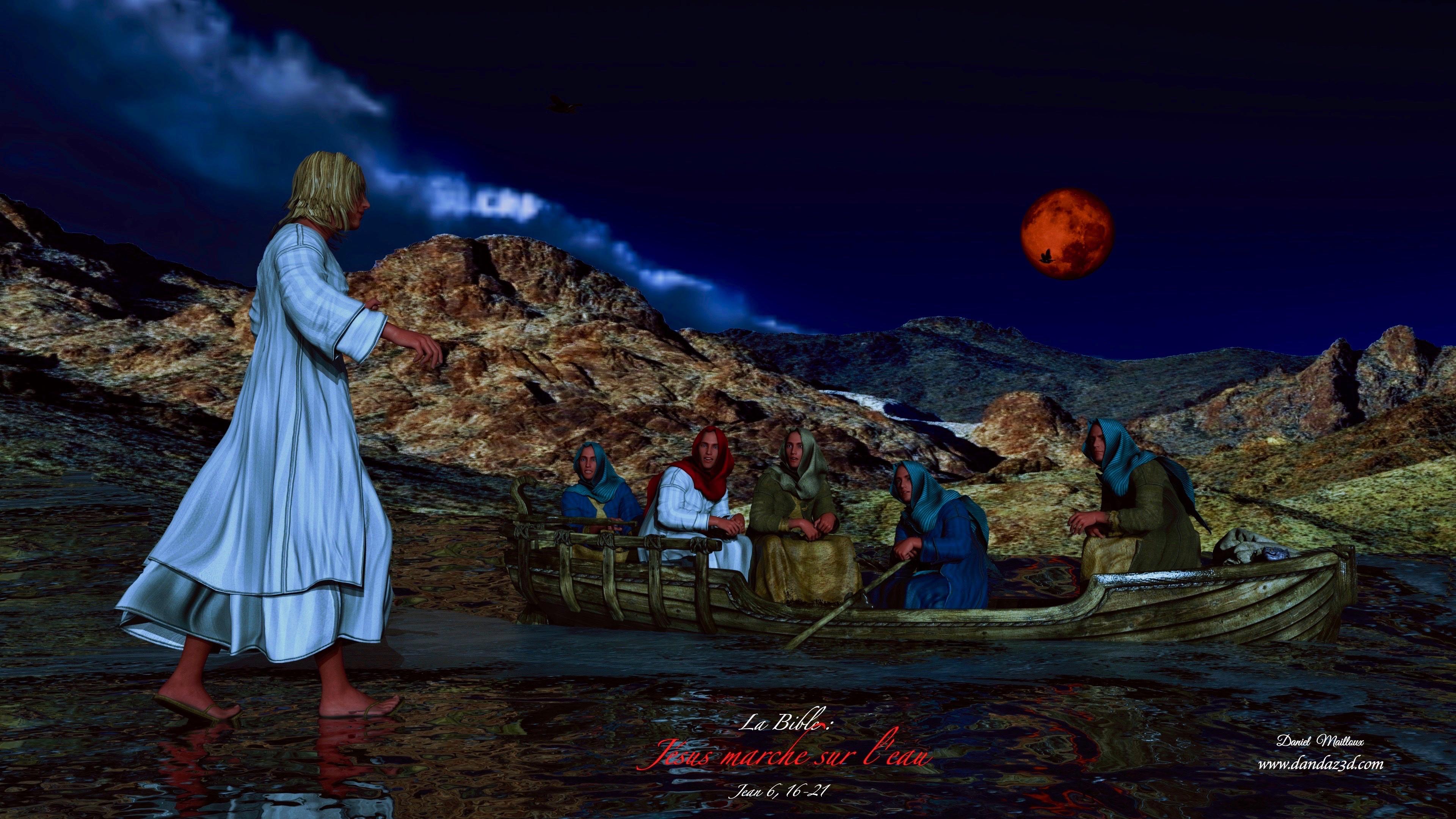 Jésus marche sur le lac