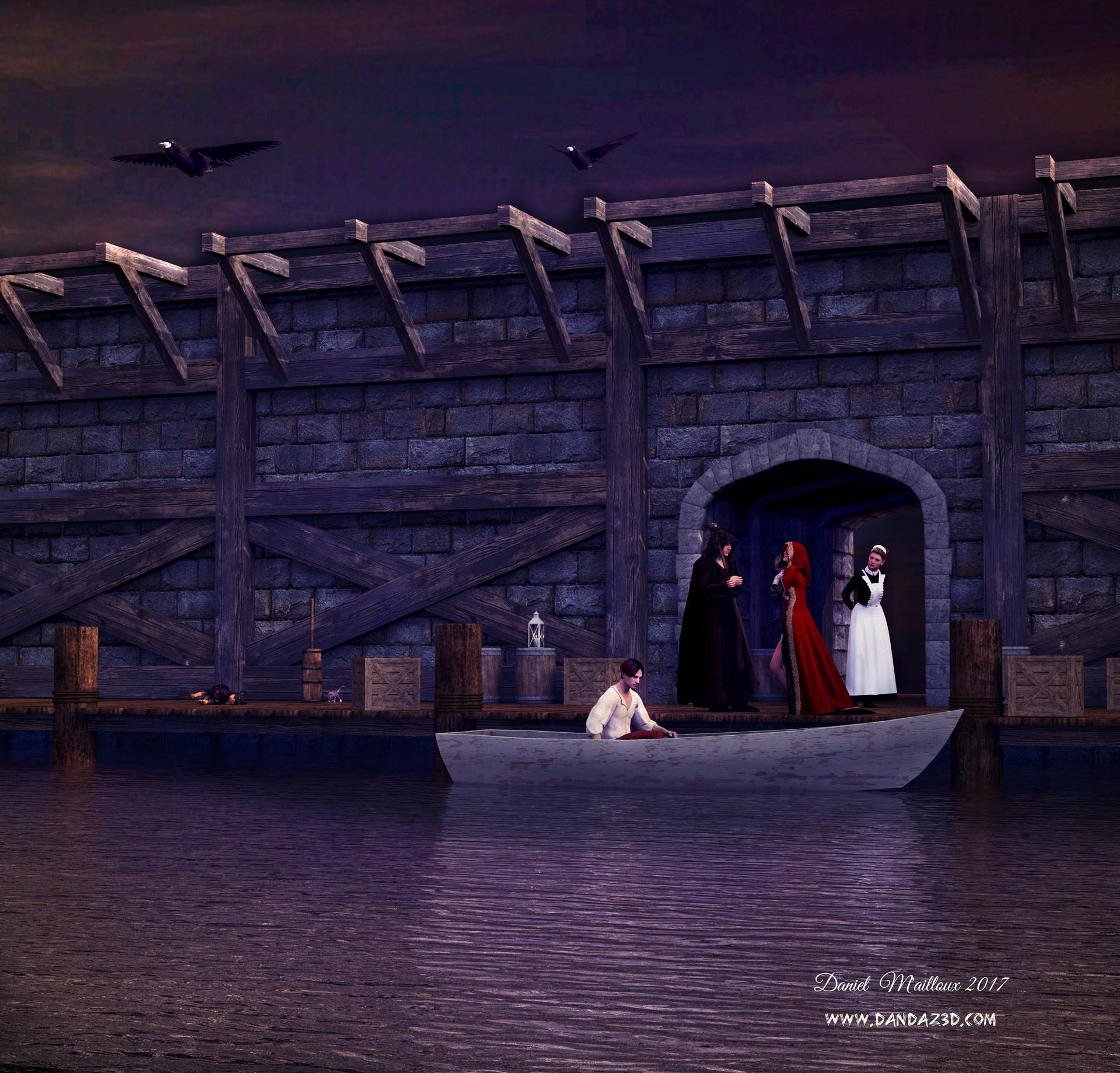 Dock night departure