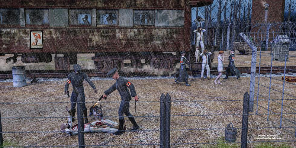 Balverk in Birkenau Auschwitz