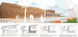 Une Médiathèque à Vaulx-en-Velin