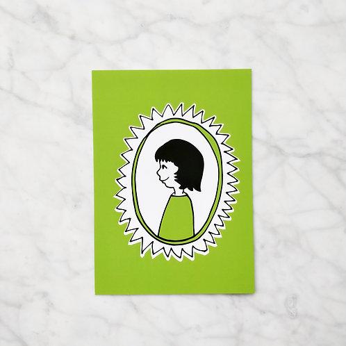 Groen meisje