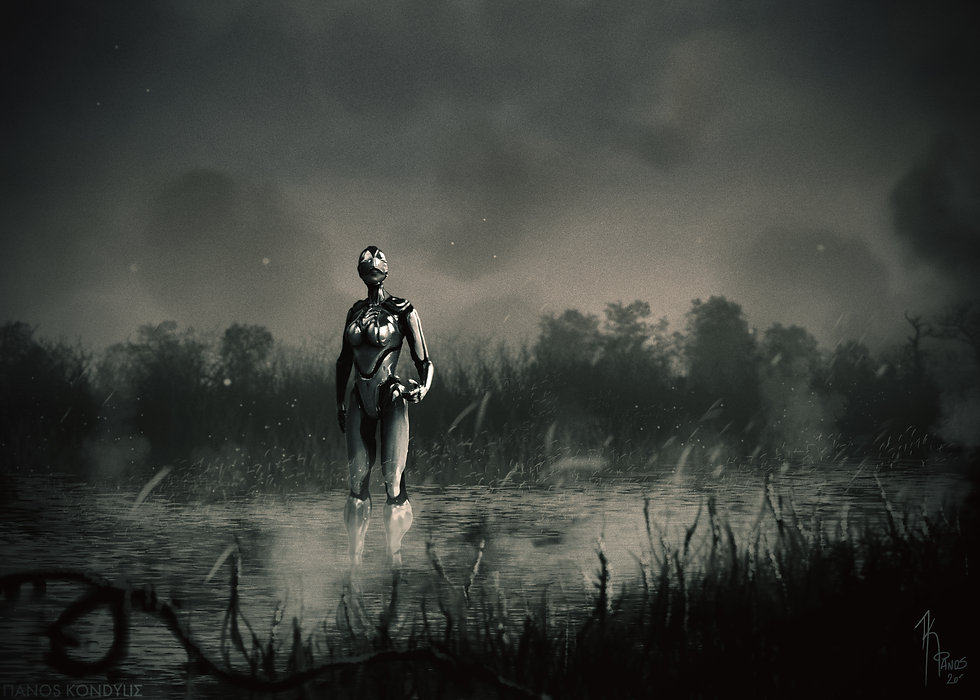 Concept design for feature film, starring a humanoid swamp creature