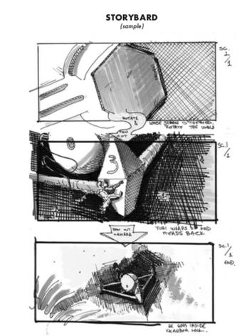 Draft storyboard page