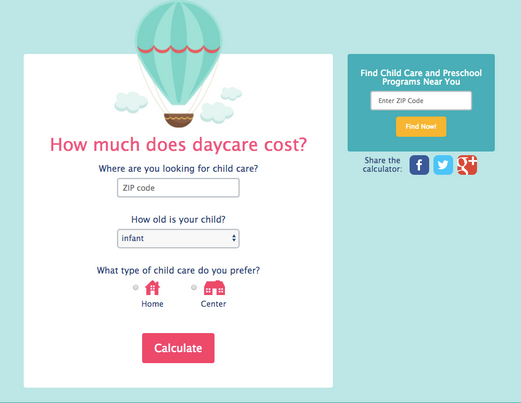 CareLuLu Childcare Calculator