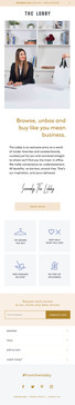 The Lobby Email Template