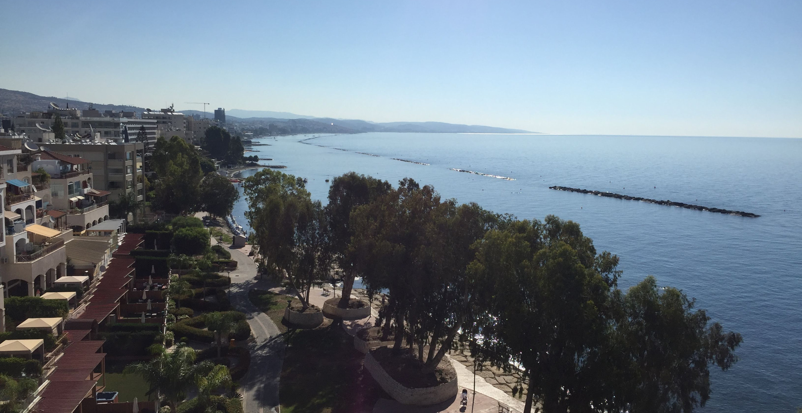 A view from the Amathus, our Limassol hotel