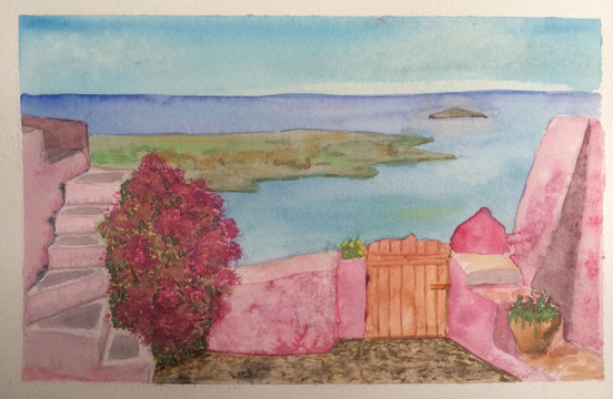 Pink Painting Greece