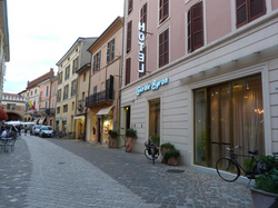 Exterior view looking towards Piazza