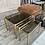 Thumbnail: Trio de tables gigognes dorées
