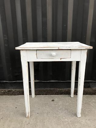 Petite Table / bureau coloris blanc patiné