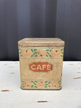 Boite ancienne métallique Café
