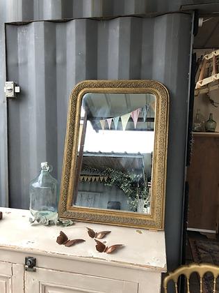 Miroir ancien doré Louis Philippe