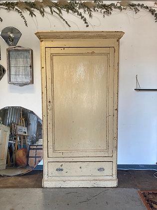 Armoire 1 porte beige style Louis Philippe