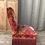 Thumbnail: Chauffeuse Napoleon III en velours motifs Kilim