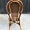 Thumbnail: Paire de chaises bistrot rotin et cannage