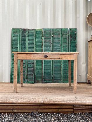 Table de ferme bois brut