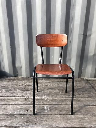 Chaise d'écolier taille Junior métal noir
