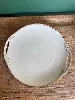 Plat à gâteau en porcelaine française