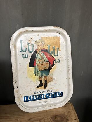 Plateau publicitaire ancien Lu le biscuit