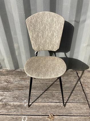Chaise vintage noir et gris-chiné années 60'