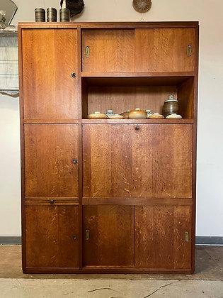 Meuble administratif vintage à casiers