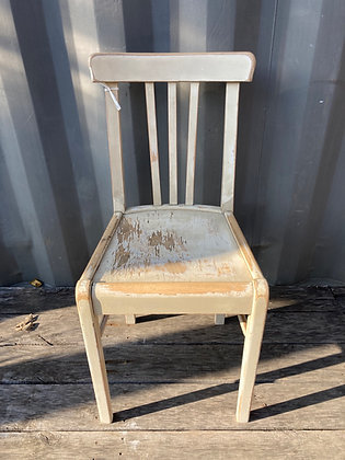 Chaise bistrot blanc crème