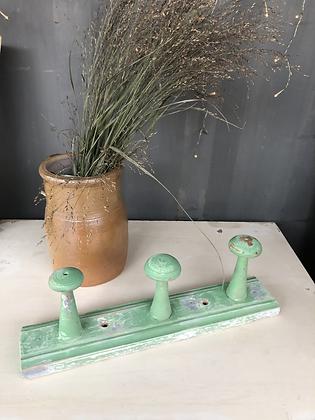 Petite patère en bois vert