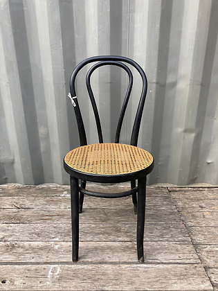 Chaise bistrot noire et cannage