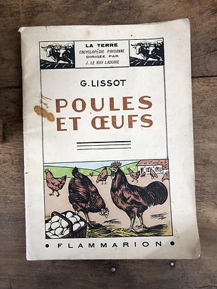 Ancien livre sur les Poules & œufs de 1941