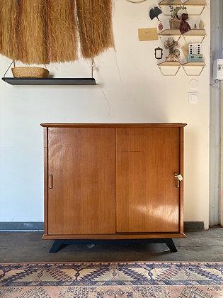 Buffet vintage portes coulissantes pieds compas