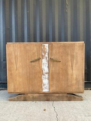 Buffet esprit art deco bois brut et bois blanchi