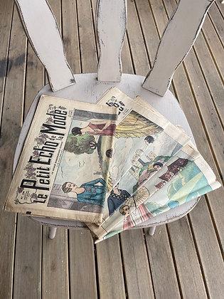 Lot de 5 journaux «Les Échos de la Mode»