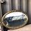 Thumbnail: Miroir doré ancien oval biseauté