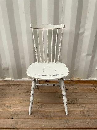 Chaise bistrot crème patinée style Baumann