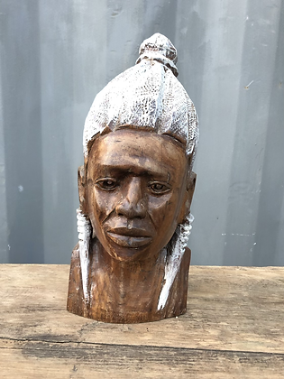 Buste feminin en bois style ethnique