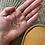 Thumbnail: Tambour brodé main motif courronne cœur