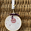 Thumbnail: Tambour brodé main motif boule de Noël
