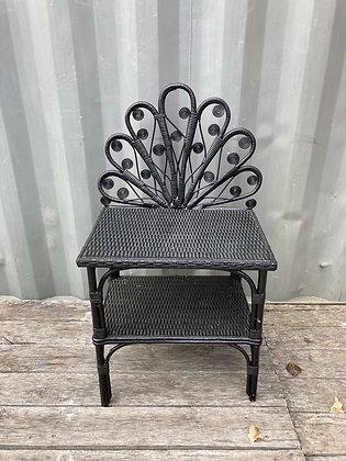 Table de chevet Peacock noir style bohème