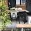 Thumbnail: Chaise vintage noir et gris-chiné années 60'